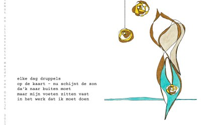 a Tanka illustrated: #6 every day raindrops…