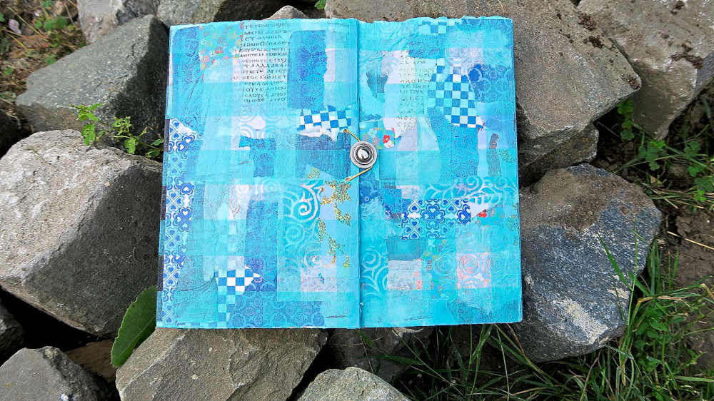 Handbound blank journal Wishing for the Cool to Come by Mandy van Goeije