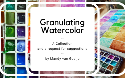 My great love: granulating watercolors