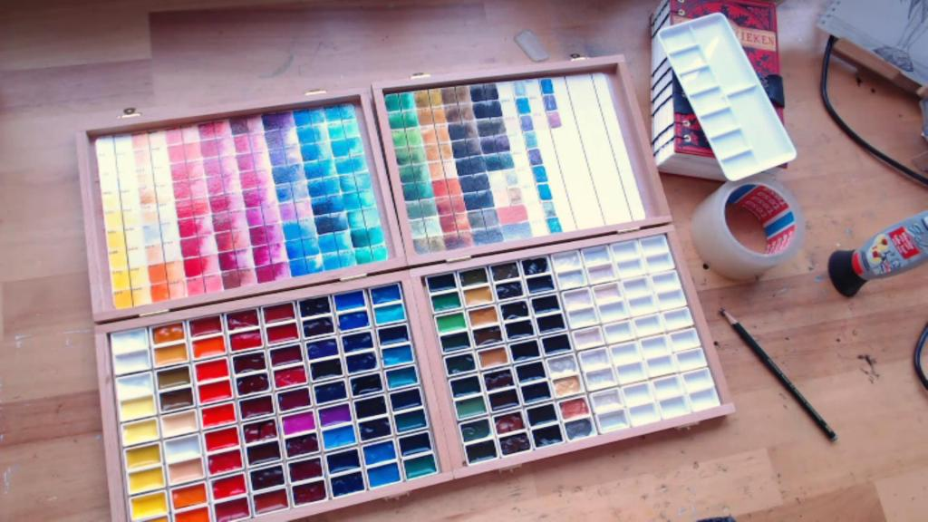Rembrandt watercolor studio paint boxes by Mandy van Goeije