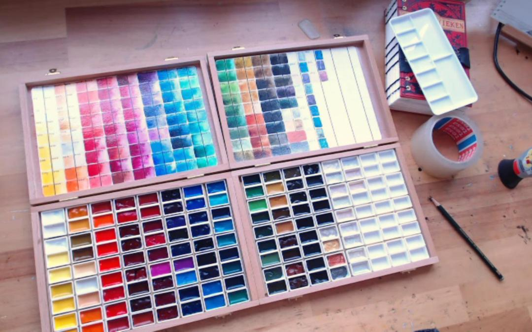 Making Rembrandt watercolor studio paint boxes