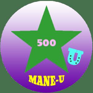 mane-u badge green star