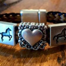 I Love Horses Horsehair Bracelet