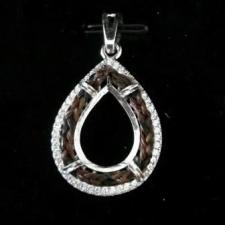 Sterling Silver Teardrop Horse Hair Pendant