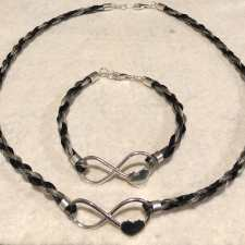 Infinity Heart Necklace and Bracelet Set