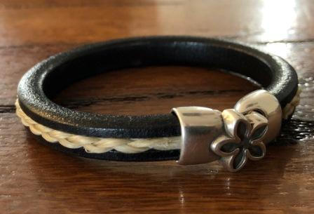 Womens Leather and Horsehair Bracelet
