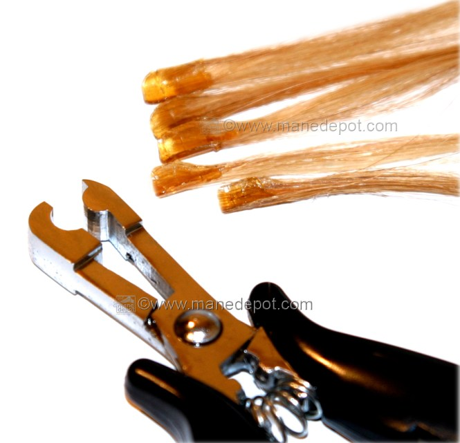 Fusion U Tip Nail Bond Hair Extensions Made With The Making Pliers