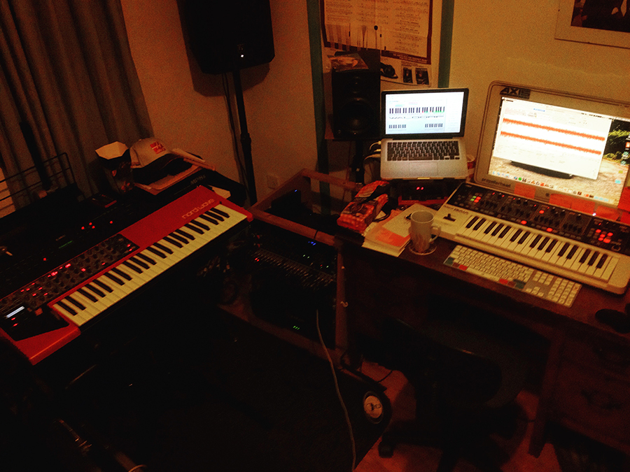Nord Wave in the studio