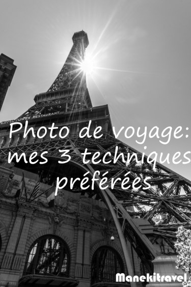 photo de voyage technique