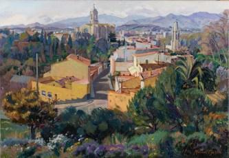 Girona desde la Pujada de la Barrufa