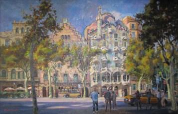 Casas Amatller y Batlló en el Paseo de Gràcia. Barcelona