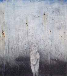 Untitled, 2001-2002, pencil, gesso, acrylic ink and coffee on paper on board, cm 120x150