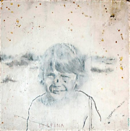 Untitled, 2001, pencil, gesso and coffee on paper on board, cm 115x115