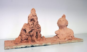 Untitled, 2007, Clay and wood, cm