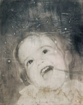 Untitled, 2007, pencil, gesso and coffee on paper on board, cm 51.5x64.5