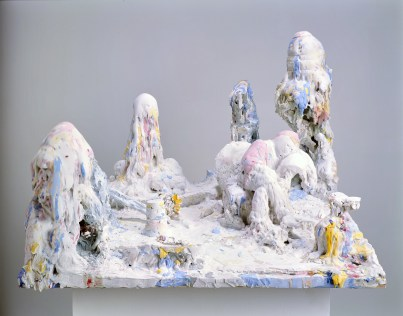 Untitled, 2008, ceramite plaster and wood, cm