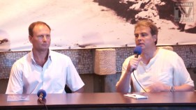 Adrian Cioroianu și Sorin Colesniuc la Targul de Carte Mangalia - august 2013.