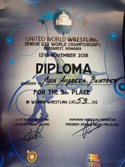 Ana Andreea Beatrice bronz Campionatul Mondial de Lupte2