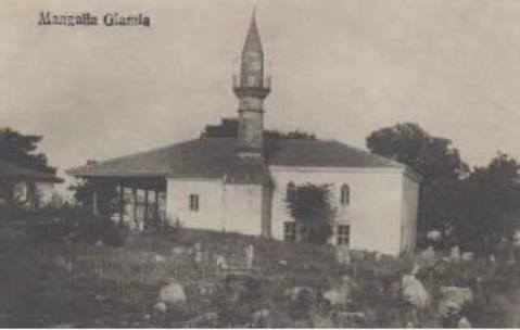 MANGALIA - Geamia Esmahan Sultan între anii 1915 - 1930