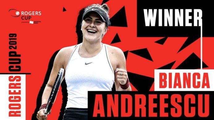 Bianca Andreescu este noua campioană de la Rogers Cup3