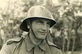 Portret al unui soldat român din cel de-al doilea război mondial