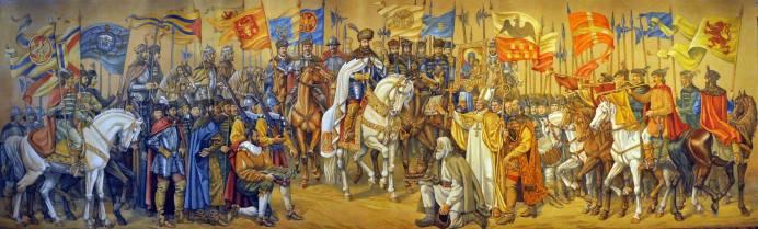 Valentin Tanase Intrarea triumfală a lui Mihai Viteazul în cetatea Alba Iulia-01
