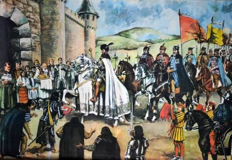 Valentin Tanase Intrarea triumfală a lui Mihai Viteazul în cetatea Alba Iulia-04