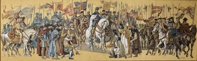 Valentin Tanase Intrarea triumfală a lui Mihai Viteazul în cetatea Alba Iulia-12