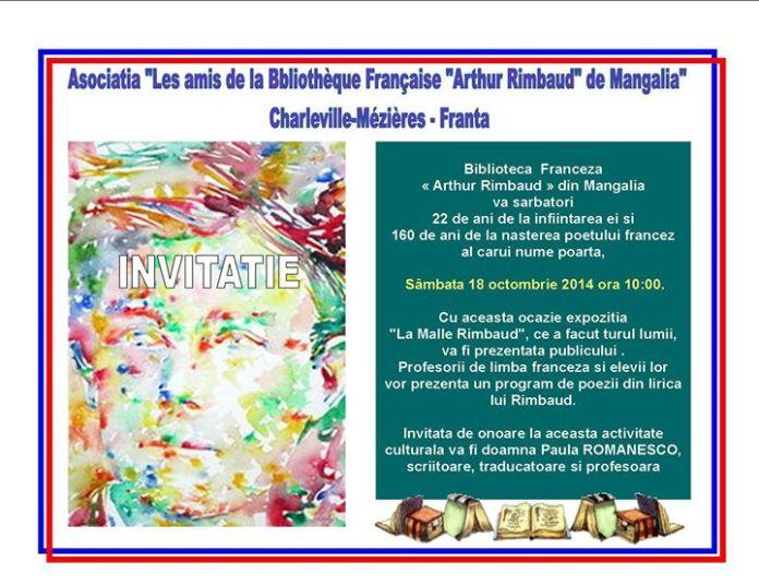 Invitatie-Biblioteca Franceza Mangalia