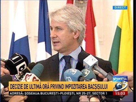 Ministrul FinanţelorBacşişul nu va mai fi impozitat