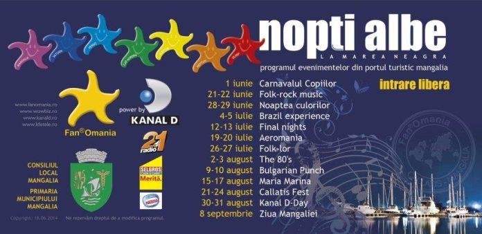 Nopti albe la Marea Neagra-Program estival 2014