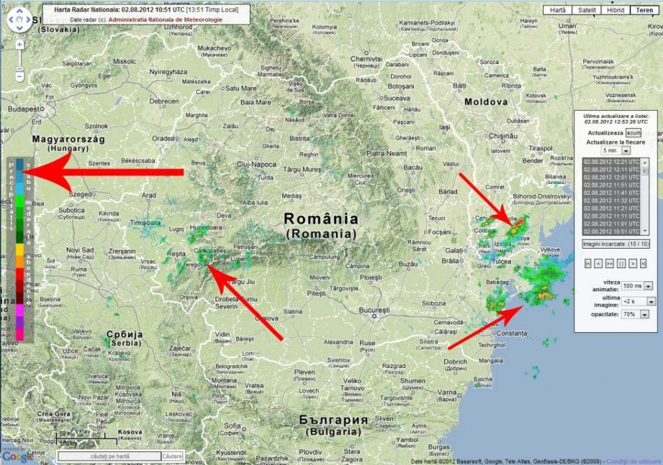 Radar Inmh Starea Vremii In Timp Real