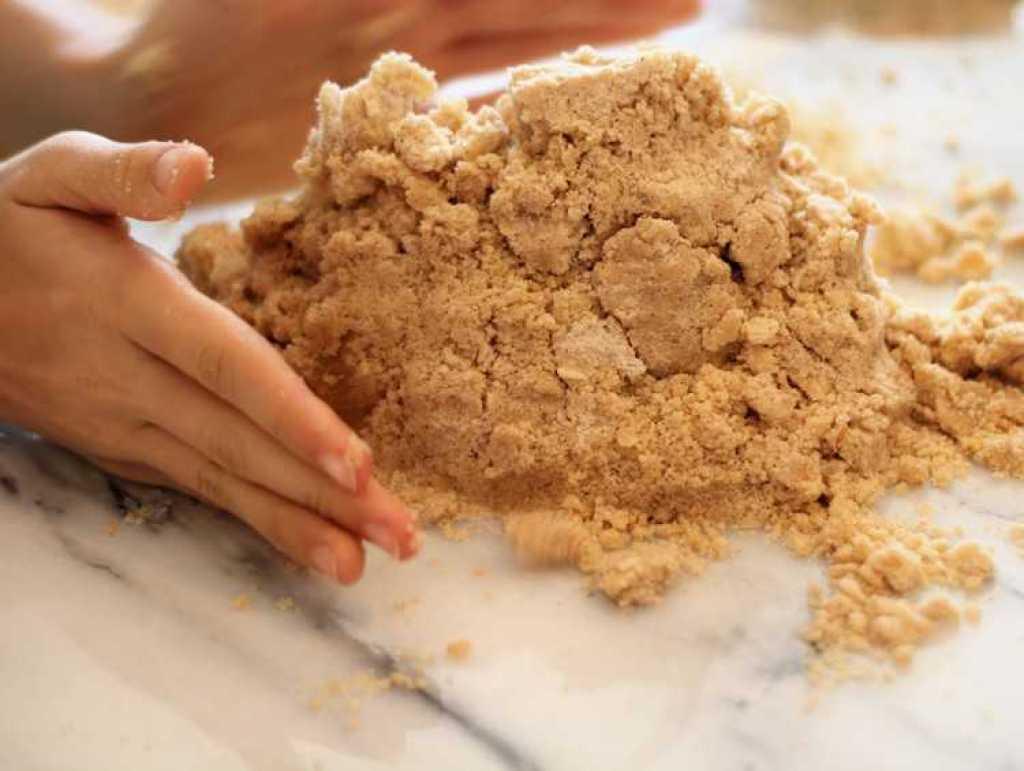 preparing dough for gingerbread cookies