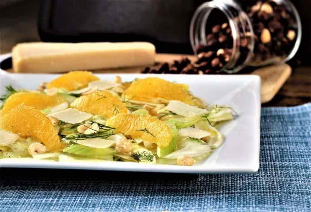 Sicilian Style Fennel, Celery and Orange Salad with Hazelnuts