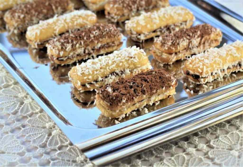 Chocolate Hazelnut and Mascarpone Lady Finger Bites