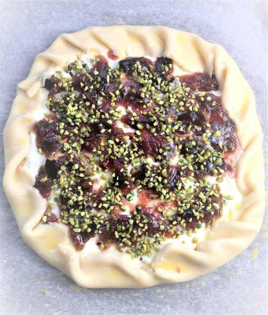 Fig Jam, Ricotta and Pistachio Crostata