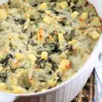 Cheesy Swiss Chard and Potato Casserole