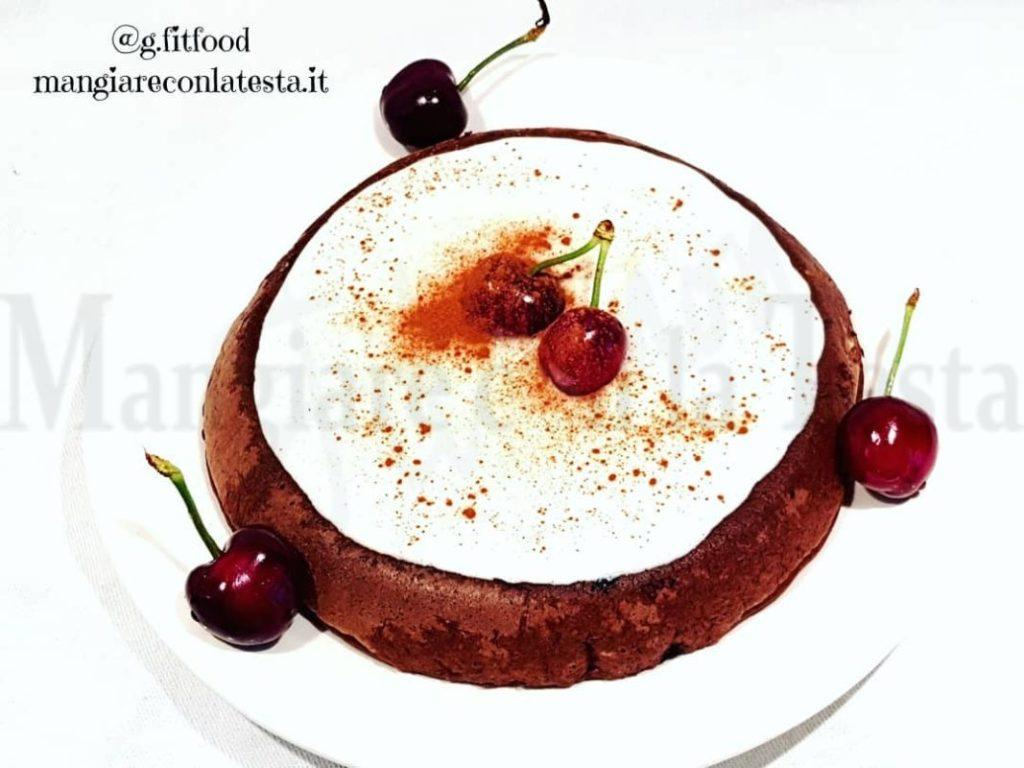Pancake iperproteico nocciola e cacao