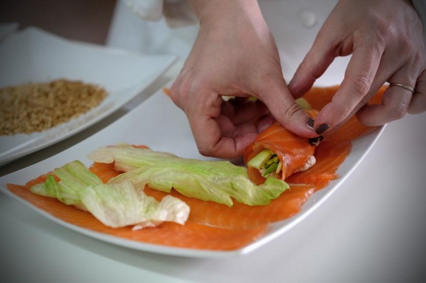 ricetta rollè di salmone marinato