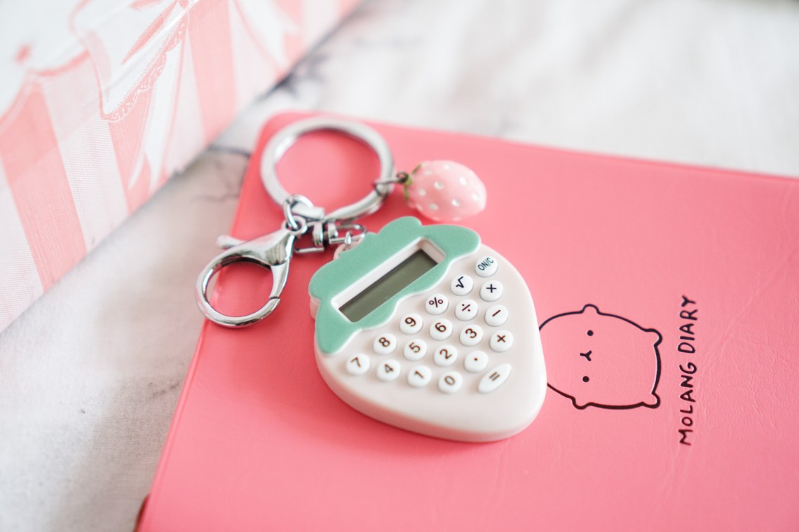 Crazy Kawaii Box Cute Strawberry Calculator
