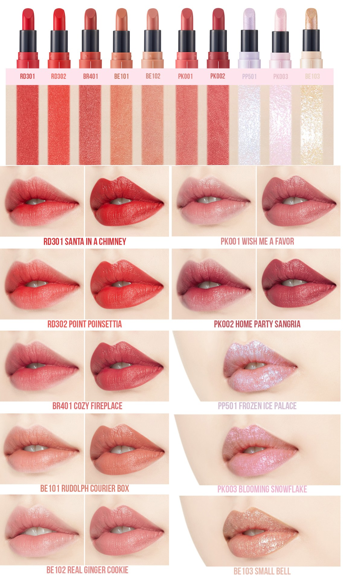 Etude House Tiny Twinkle Edition Dear My Blooming Lips-Talk 1 swatch