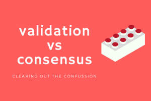 blockchain consensus vs validation