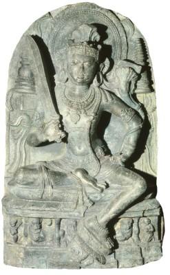 """""""Majusri,"""" the bodhisattva of wisdom."""