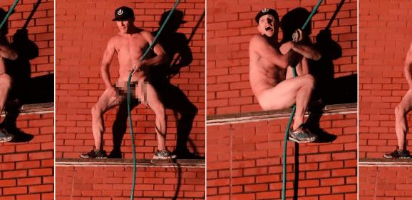 Arrestan a hombre que se desnudó en el techo de una escuela