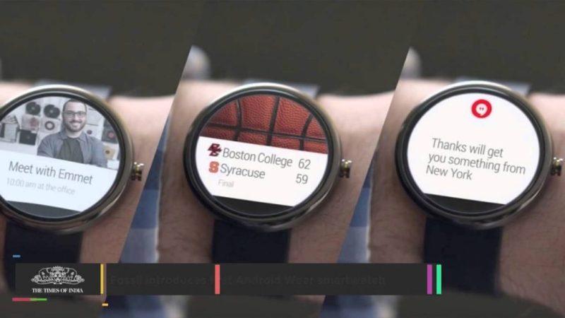 fosil horloges met  android
