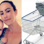 Mãe alerta pais após mal uso da cadeirinha no carrinho de supermercado