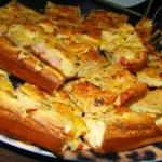 Deliciosa torta de pizza super leve e fácil de preparar
