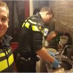 Policiais socorrem mulher a enviando para hospital, mas ficam na casa dela para fazer jantar dos 5 filhos.