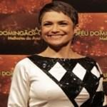 Em premiação, Sandra  Annenberg usa vestido criado por jovem autista de 21 anos