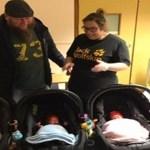 Mulher fica grávida com ajuda de fertilização e descobre que já estava esperando gêmeos